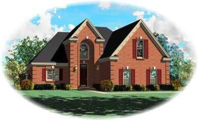 European Style House Plans Plan: 6-334