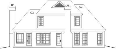 Rear Elevation Plan: 6-334