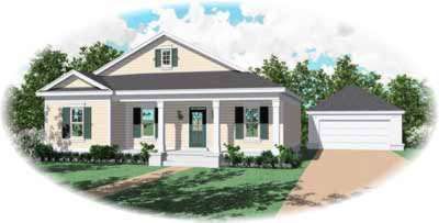 Country Style Floor Plans Plan: 6-338