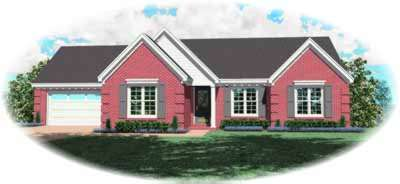 Traditional Style Home Design Plan: 6-340