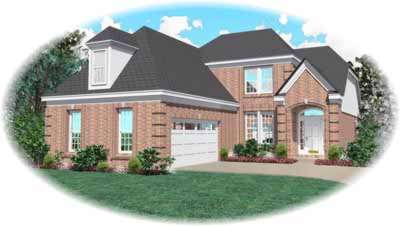 European Style Home Design Plan: 6-346