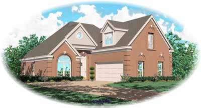 Southern Style Home Design Plan: 6-348