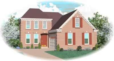 European Style Home Design Plan: 6-349