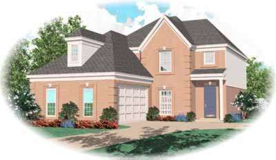 Traditional Style Home Design Plan: 6-358