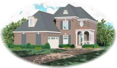 European Style House Plans Plan: 6-373