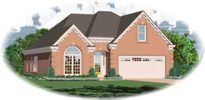 European Style House Plans Plan: 6-374