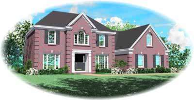 European Style Home Design Plan: 6-378