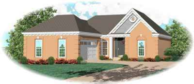Traditional Style Home Design Plan: 6-379