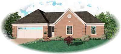 Traditional Style Home Design Plan: 6-383