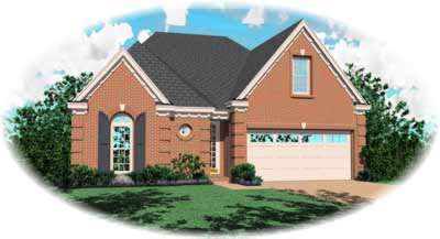 European Style Home Design Plan: 6-387