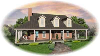 Farm Style Home Design Plan: 6-391