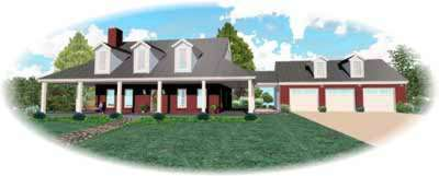 Farm Style House Plans Plan: 6-392