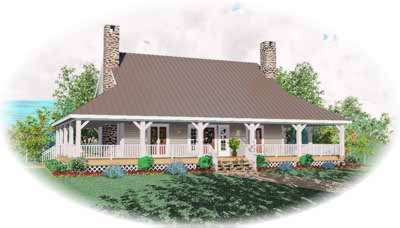 Farm Style Home Design Plan: 6-397