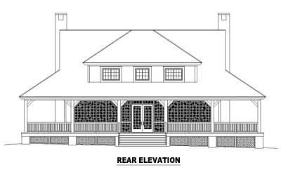 Rear Elevation Plan: 6-397