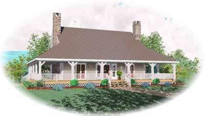 Farm Style Home Design Plan: 6-398