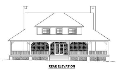 Rear Elevation Plan: 6-398