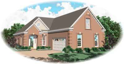 Traditional Style Home Design Plan: 6-406