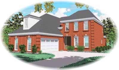 European Style Home Design Plan: 6-410