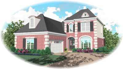 European Style House Plans Plan: 6-412