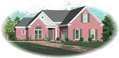 Traditional Style Home Design Plan: 6-417