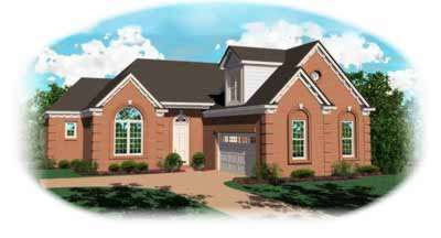 Traditional Style Home Design Plan: 6-419