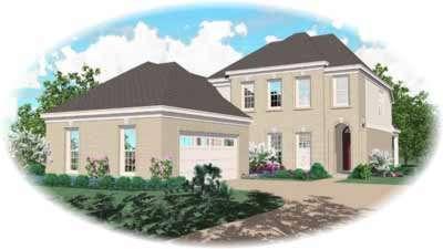 European Style House Plans Plan: 6-421