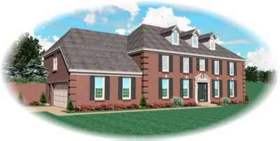 Southern-colonial Style Home Design Plan: 6-430