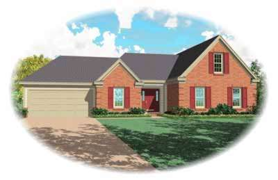 Traditional Style Home Design Plan: 6-431