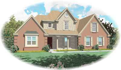 Traditional Style Home Design Plan: 6-437