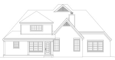 Rear Elevation Plan: 6-437