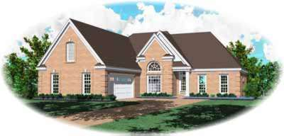 Traditional Style Home Design Plan: 6-447