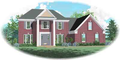 Southern-colonial Style House Plans Plan: 6-452