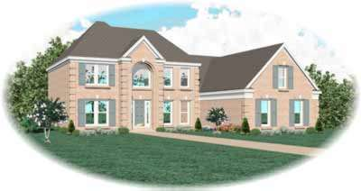 European Style Home Design Plan: 6-454