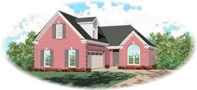 European Style Home Design Plan: 6-462