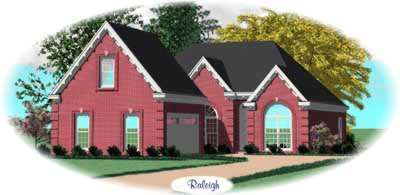 European Style Home Design Plan: 6-467