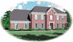 Southern-Colonial Style Home Design Plan: 6-477