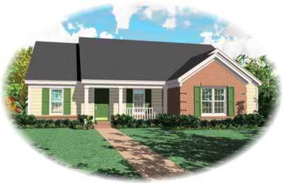 Country Style House Plans Plan: 6-480