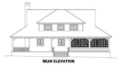 Rear Elevation Plan: 6-483