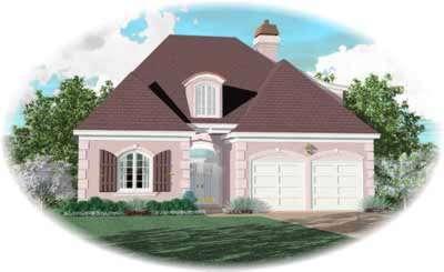 European Style Home Design Plan: 6-484