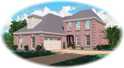European Style House Plans Plan: 6-486