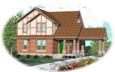 Craftsman Style Home Design Plan: 6-489