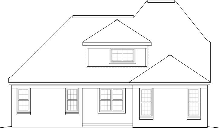 Rear Elevation Plan: 6-492