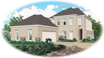 Southern Style Home Design Plan: 6-499