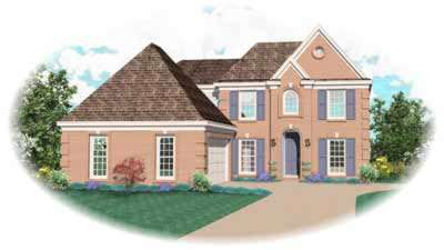 Traditional Style Home Design Plan: 6-503