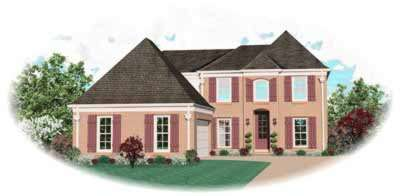 Traditional Style Home Design Plan: 6-505