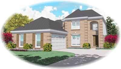 European Style Home Design Plan: 6-508