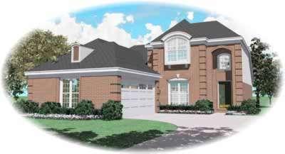 European Style House Plans Plan: 6-511