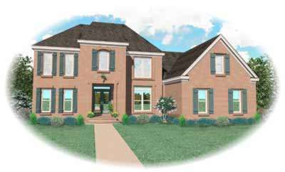 Southern Style Home Design Plan: 6-522