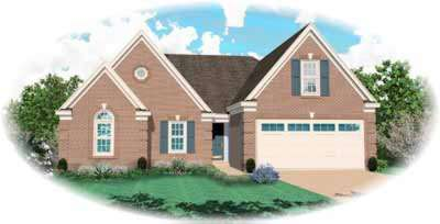 Traditional Style Home Design Plan: 6-537