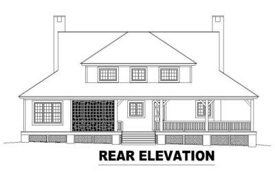 Rear Elevation Plan: 6-539